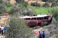 قتلى وجرحى في انقلاب حافلة لنقل المسافرين انطلقت من الحسيمة نحو تاونات