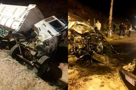 6 جرحى في حادثة سير خطيرة بمدخل مدينة الحسيمة