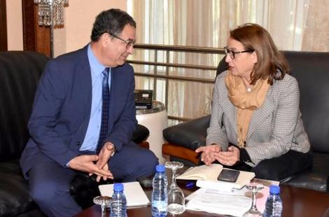 الحساني وبودرا يتدارسان التنسيق المشترك لتنظيم لقاء دولي حول تعزيز الديمقراطية المحلية