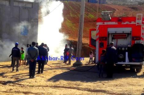 """السيطرة على حريق شب بـ""""زريبة """" ببني بوعياش بعد 13 ساعة من اندلاعه"""