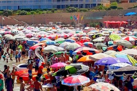 """الصورة من شاطئ """"كيمادور"""" بالحسيمة"""
