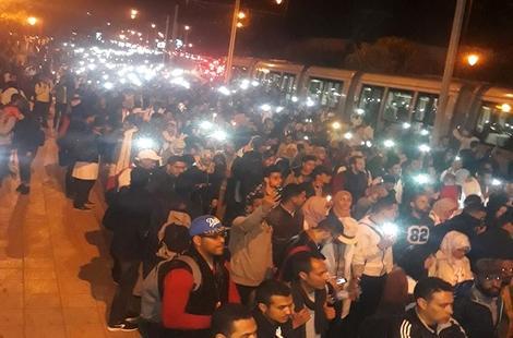 مسيرة حاشدة للأساتذة المتعاقدين بشوارع الرباط واعتصام أمام البرلمان