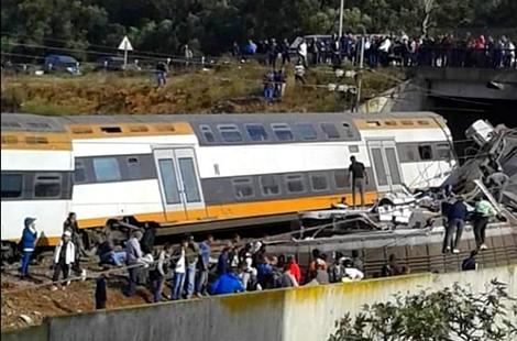 ستة قتلى و 72 جريحا في حادث انحراف قطار عن سكته ببوقنادل