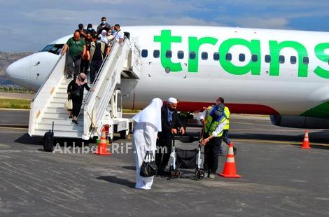 بالصور.. مطار الحسيمة يستقبل 400 مسافر من الجالية المغربية في يوم واحد