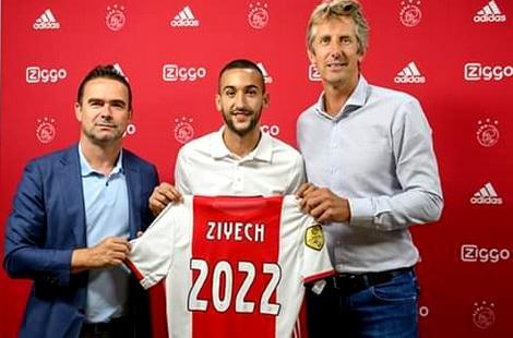 رسمياً: زياش يمدد عقده مع أياكس أمستردام الهولندي لغاية 2022